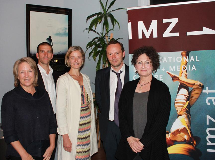 Jury members: (left to right: Lynette Kessler, William Trevitt, Muriel Maffre, Michael Nunn, Ellen Bromberg). Photo by Michelle Iki