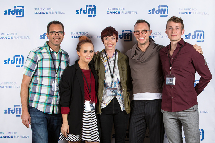 Jonathan Roman (USA) with filmmakers Simona Deaconescu (Romania), Wendy Rein (USA), Ryan Smith (USA), Sam Asaert (Belgium). Photo: Alexander Reneff-Olson
