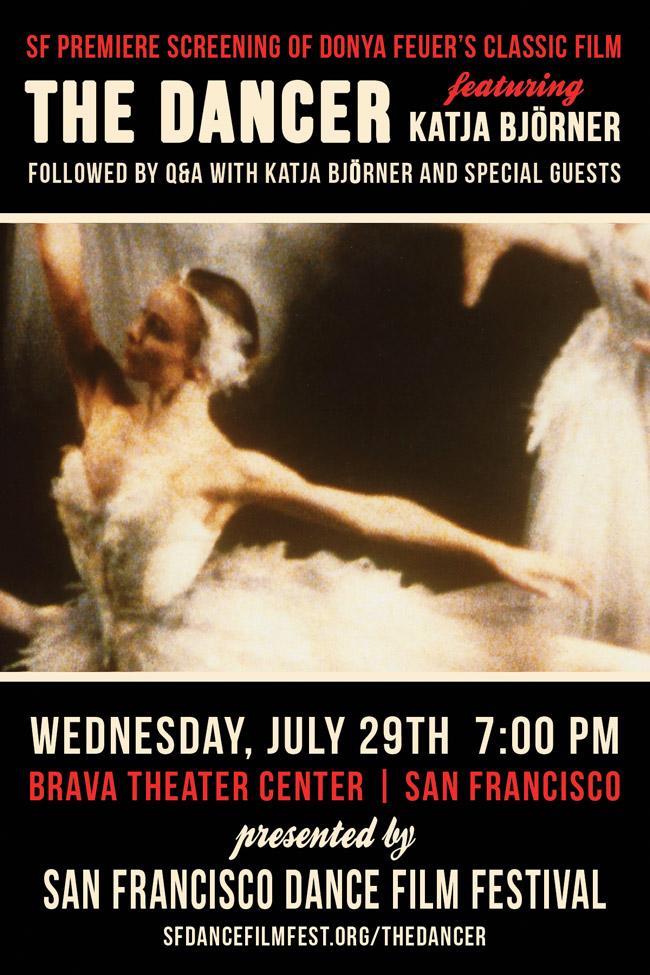 SFDFF, Katja Björner, The Dancer to appear at NYC MoMA's film series